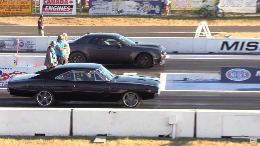 Dodge Demon Redefines 'Holeshot' In Epic Race Vs Classic Charger