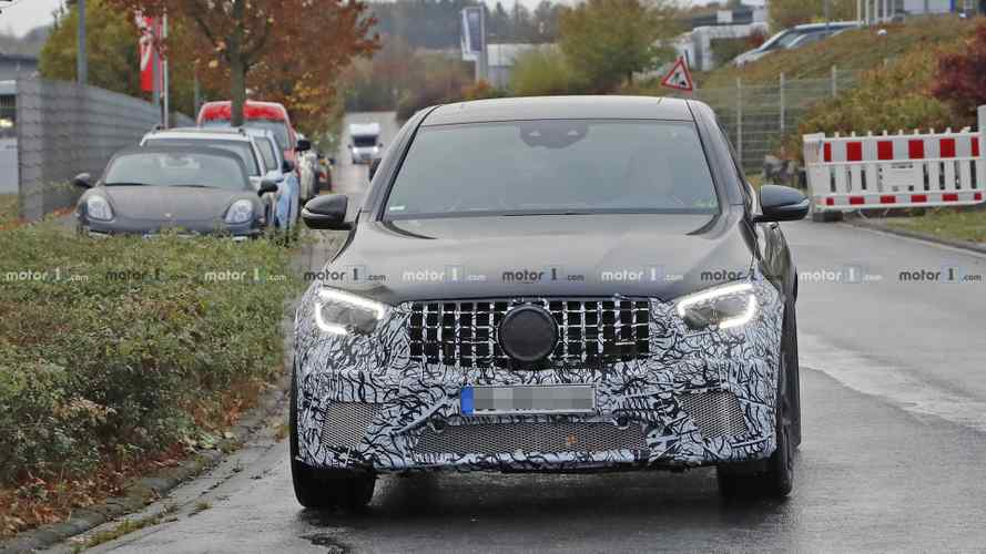 2020 Mercedes-AMG GLC 63 Coupe facelift spy photos