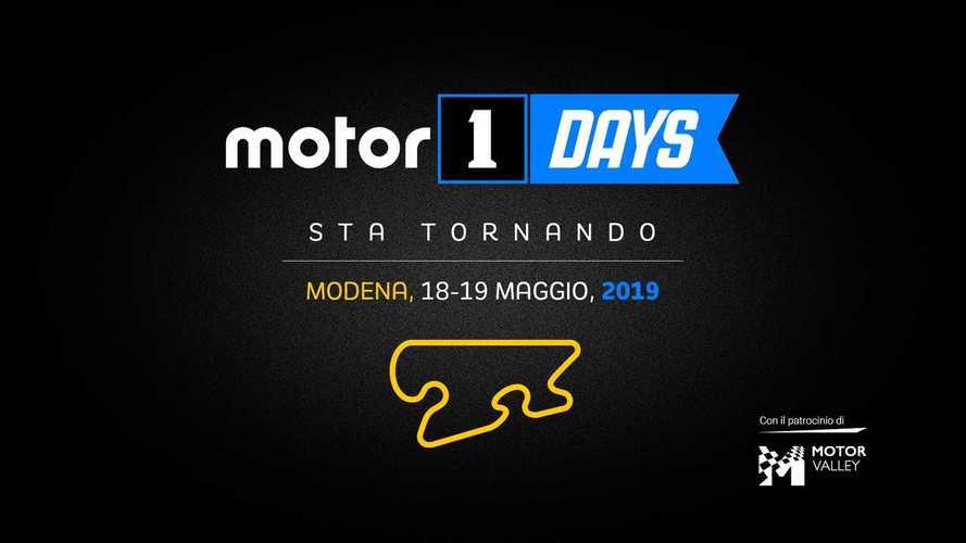 Motor1Days, torna a Modena il 18 e 19 maggio 2019