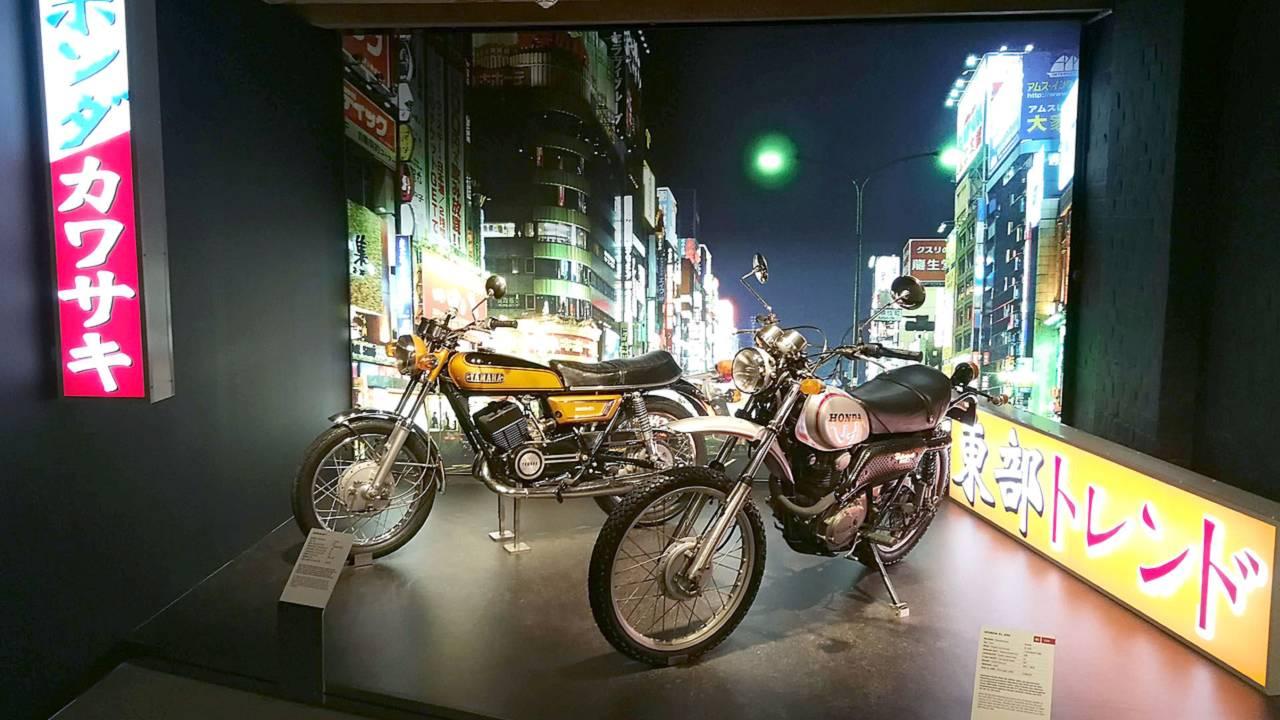 Honda and Yamaha motorcycles