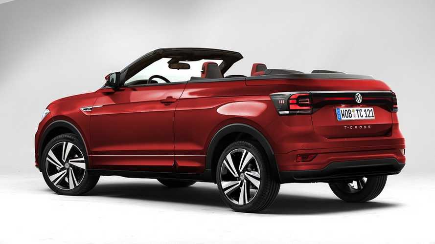 VW T-Cross pick-up, cabrio, 3 kapı, GTS render