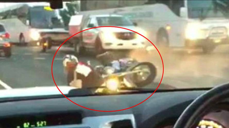 Watch a Biker Try, and Fail, to Show Off