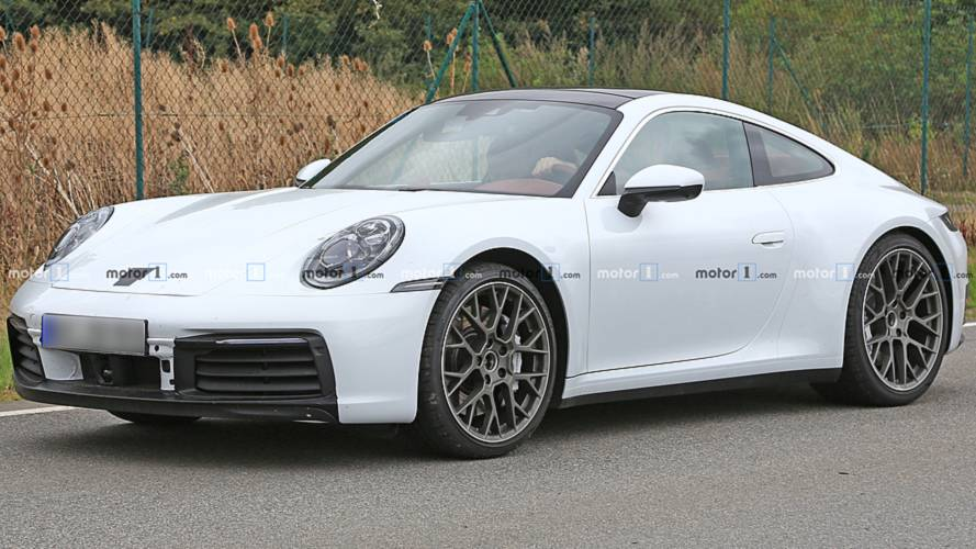 Barely Concealed Porsche 911 Spied In Wonderful White