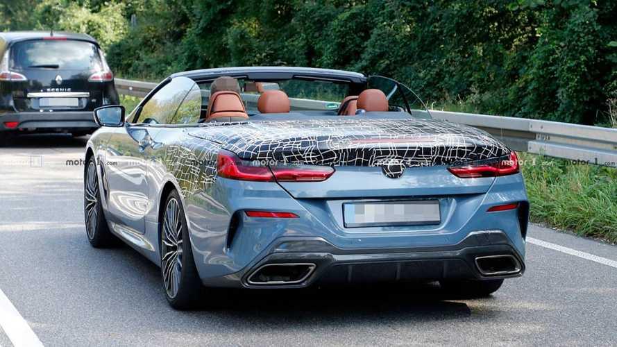 BMW 8 Serisi Convertible kamuflajsız casus fotoğraflar