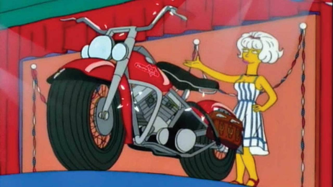 The '55 Panhead that Simpson won.