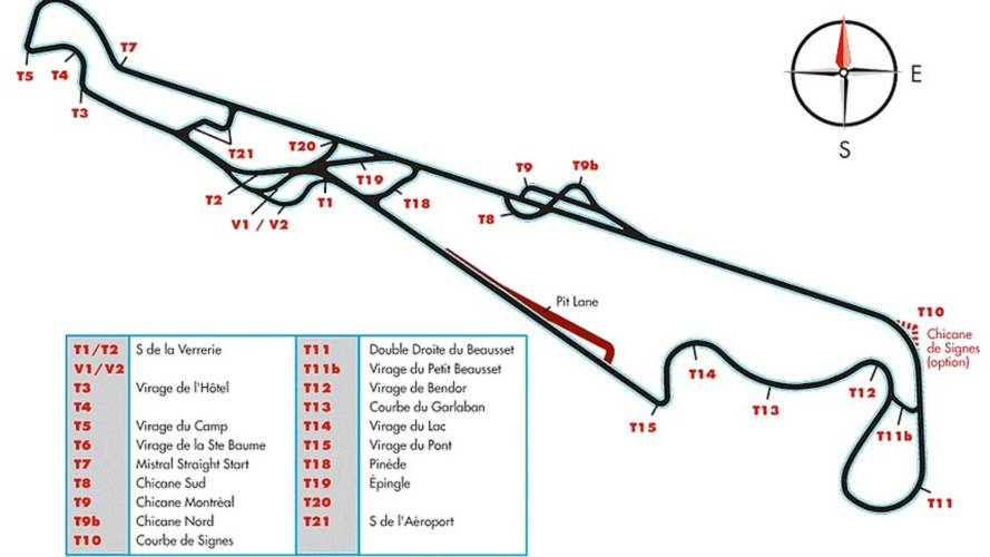 Plan Circuit du Castellet