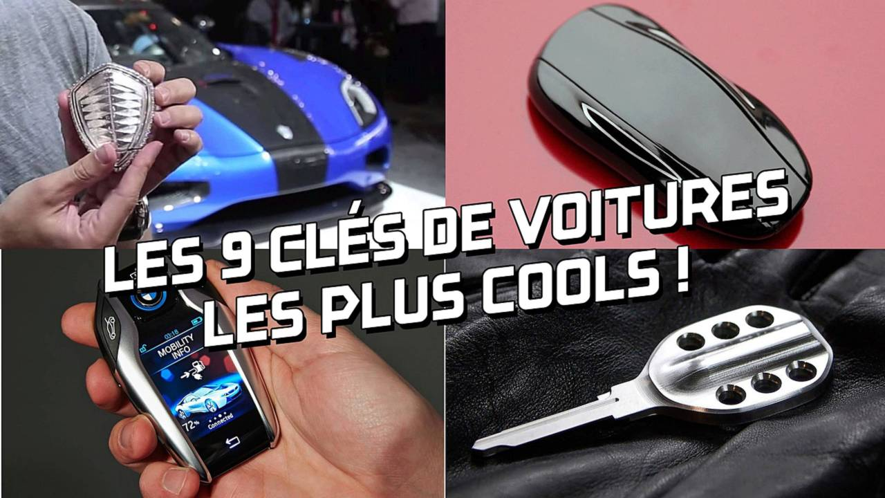 9 clés de voitures les plus cools