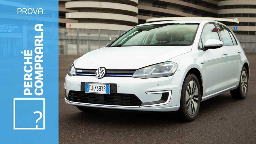 Volkswagen e-Golf,perché comprarla... e perché no