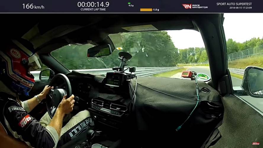 Hop onboard the BMW Z4 M40i for a lap of the Nurburgring in 7:55
