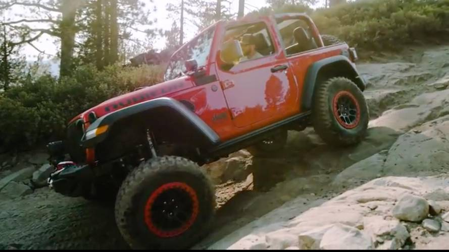 Jeep Video Shows Off Mopar-ized Wrangler Rubicon Wearing Bikini Top