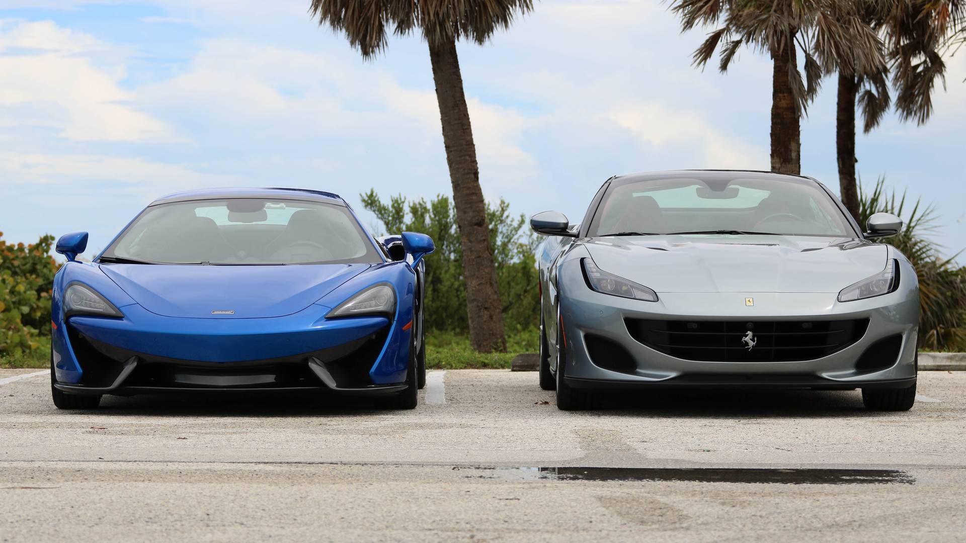 Mclaren 570s Spider Vs Ferrari Portofino Made For Miami