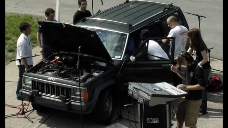Techno Jeep - Vídeo mostra como fazer música com os