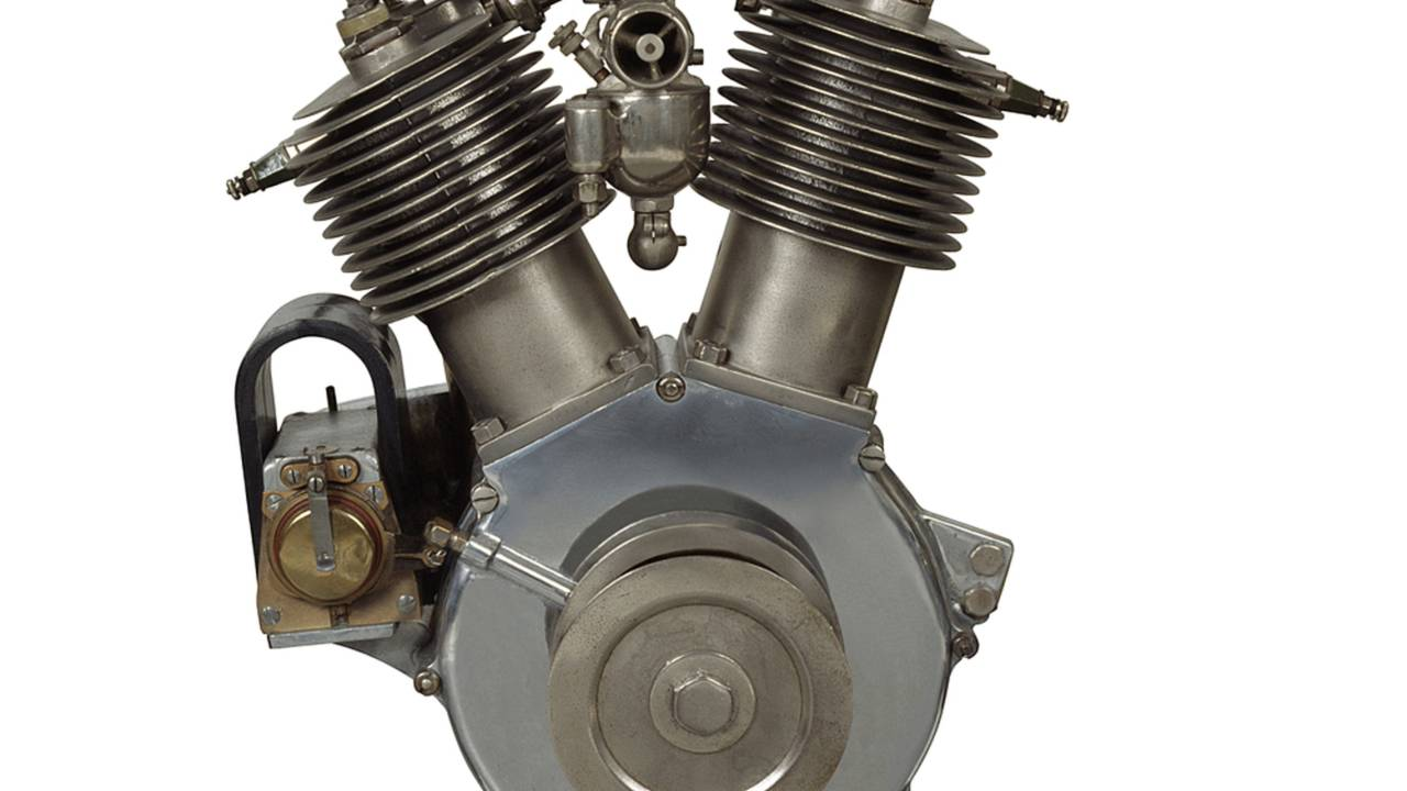 1909 Harley-Davidson V-twin motor. Photo Courtesy of the H-D Archives.