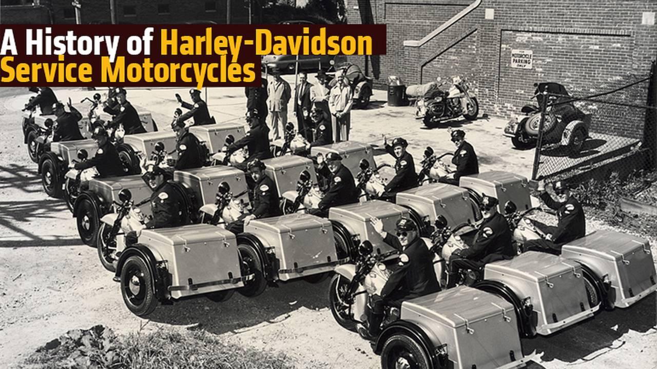 A History of Harley-Davidson Service Motorcycles