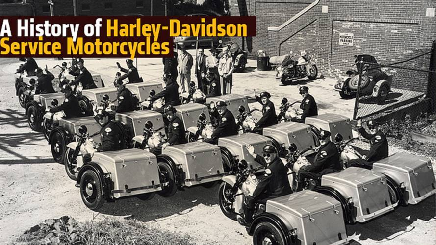 A History of Harley-Davidson Service Motorcycles