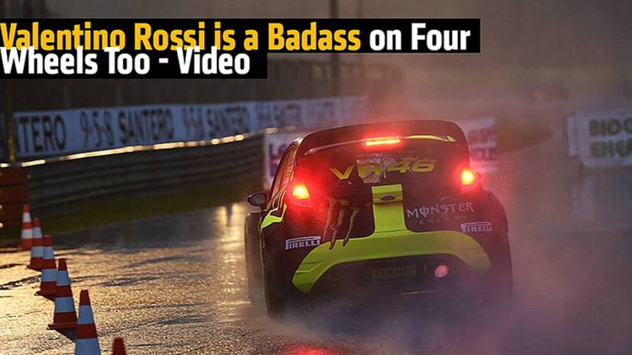 Valentino Rossi is Apparently a Badass on Four Wheels Too - Video