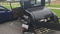 Toyota Corolla Crashes Into Parked 1931 Ford Model A