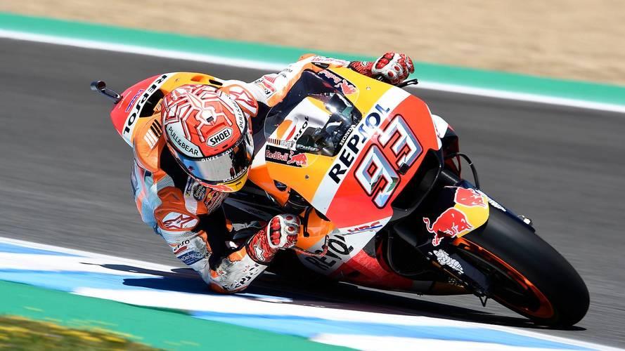 Márquez gana un accidentado GP de España de MotoGP