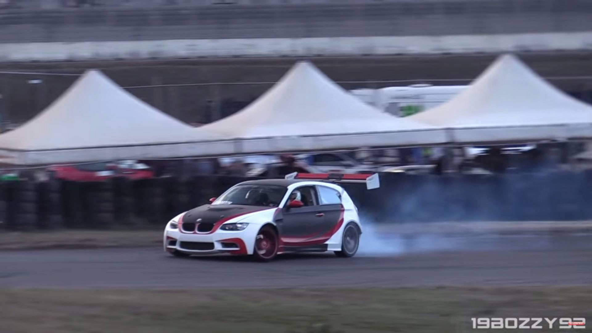 Watch And Listen As This Bmw 1 Series Drifts With V8 Thunder