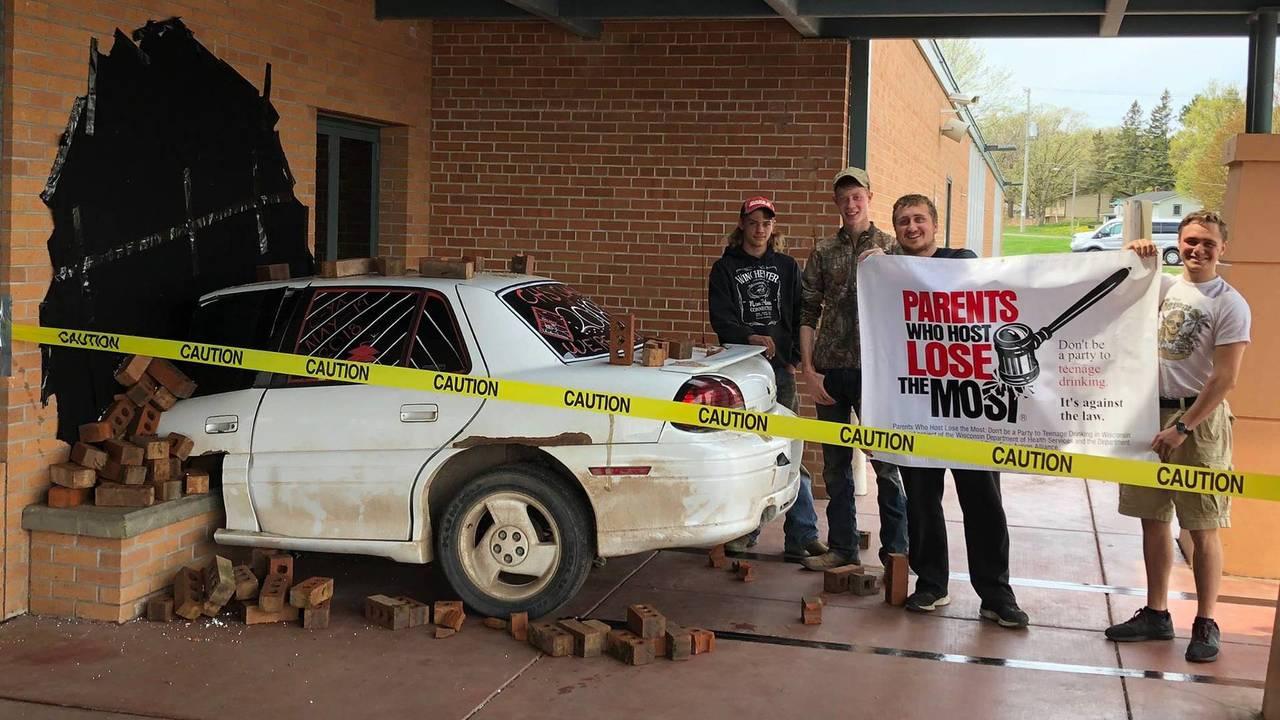 High School Car Crash Prank