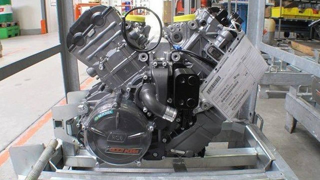 The KTM 1190 Adventure motor