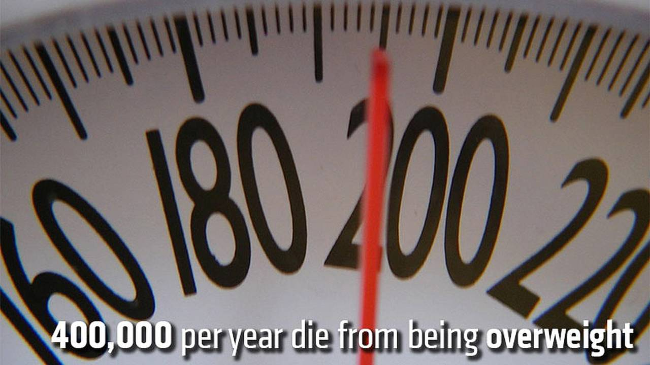 400,000 per year die from being overweight