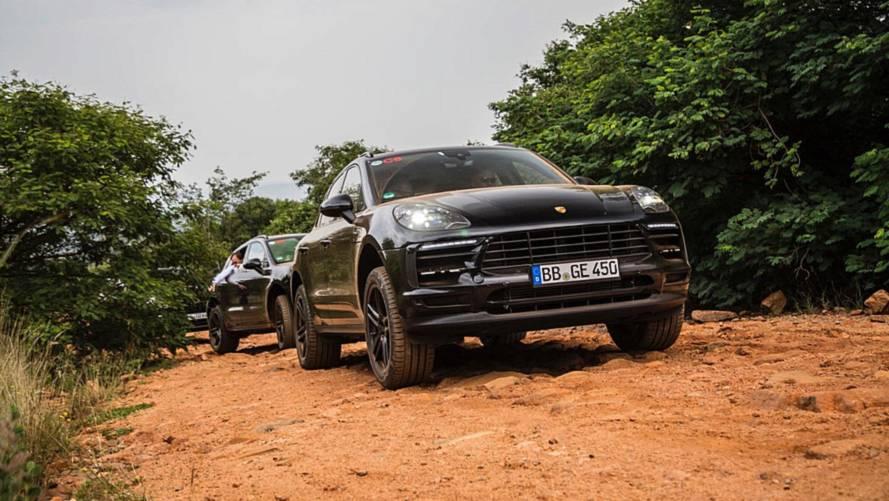 Les derniers préparatifs du Porsche Macan restylé en Afrique du Sud