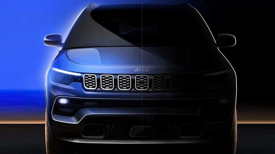 Jeep Compass restyling: le prime immagini e il tablet in plancia