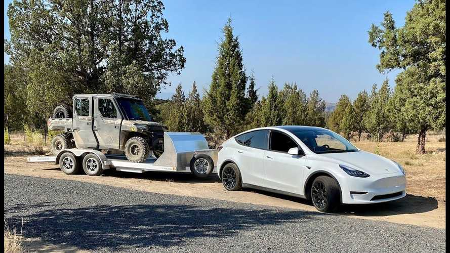 Tesla Model Y Towing & Hunting Expedition: 4,000 Lbs Over Serious Grades