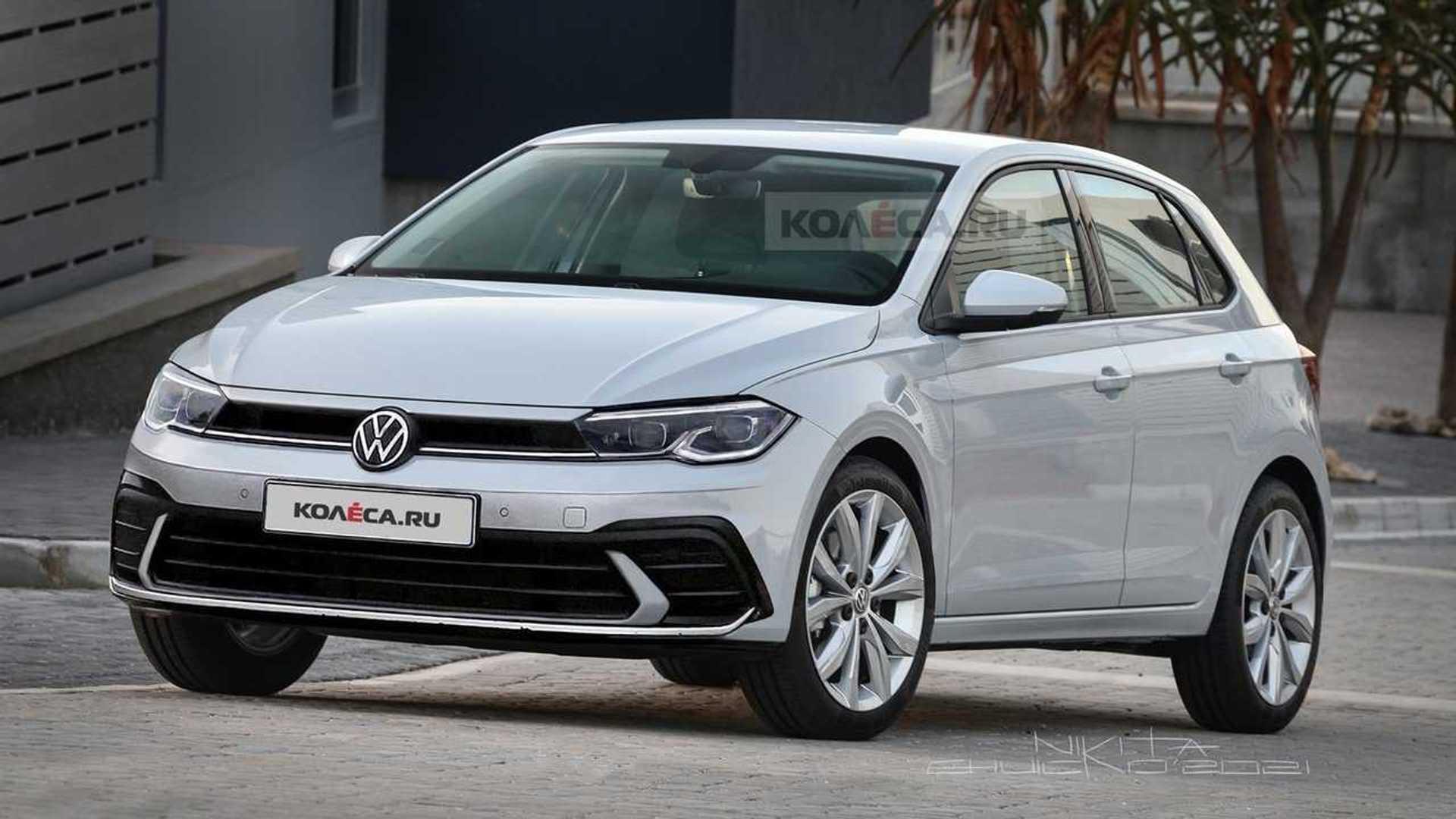 Рестайлинг VW Polo 2021 года спекулятивно сделан на основе шпионских снимков