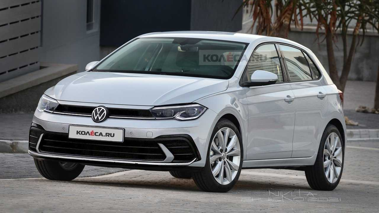 2021 VW Polo facelift rendering (front)