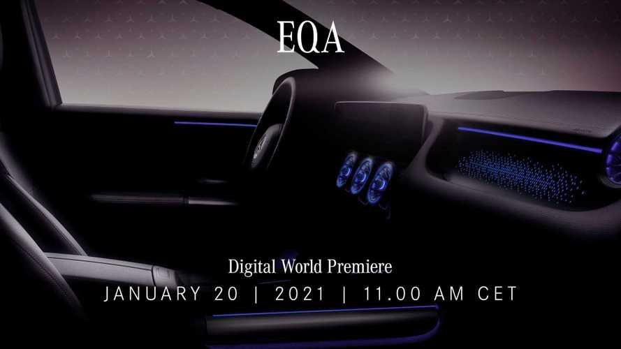 Mercedes EQA, uno sguardo agli interni prima del debutto ufficiale