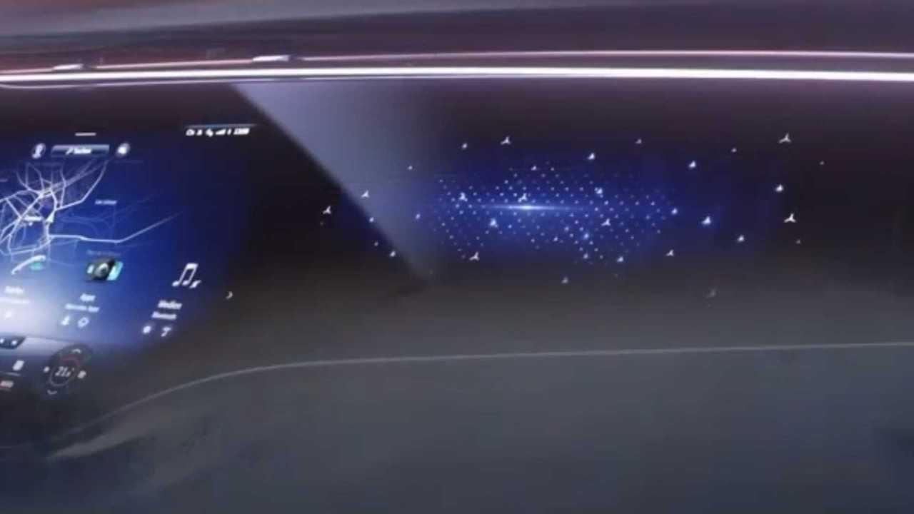 Mercedes EQS Hyperscreen Teaser