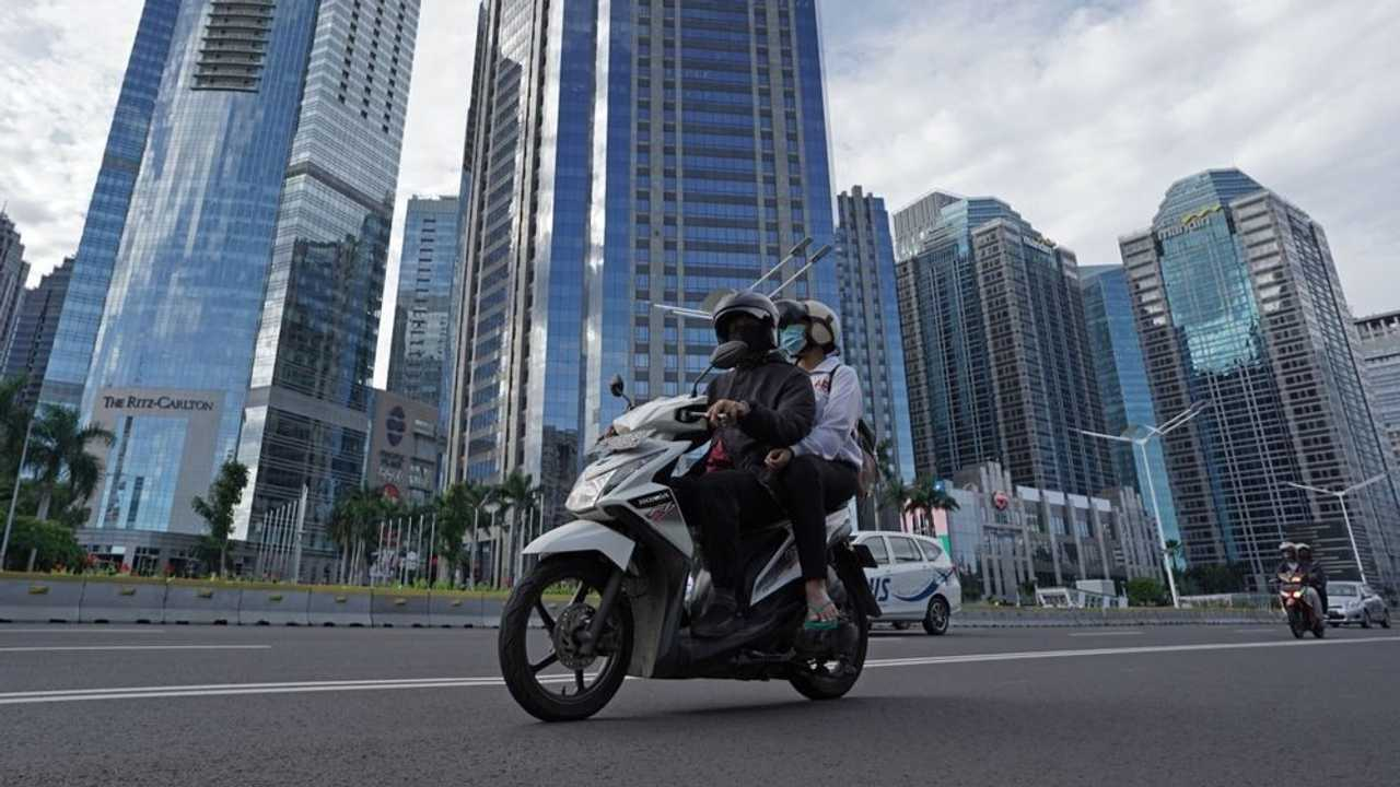Indonesian Motorcycle Taxi
