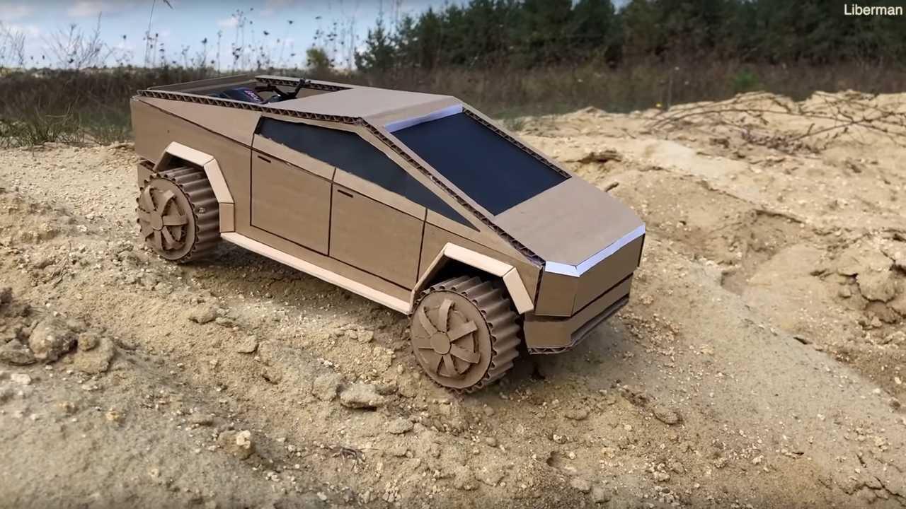 Watch This Amazing Cardboard Tesla Cybertruck Go Off Roading