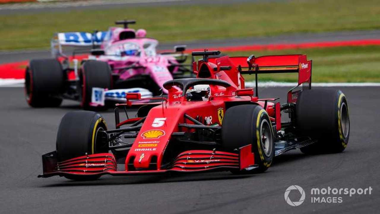 Sebastian Vettel leads Nico Hulkenberg at 70th Anniv GP2020