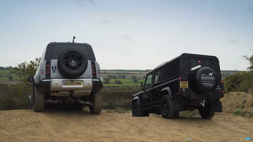 New and old Land Rover Defenders compete for off-road supremacy