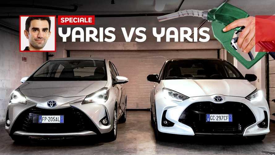 """Toyota Yaris Hybrid: prova consumi """"nuova"""" contro """"vecchia"""""""