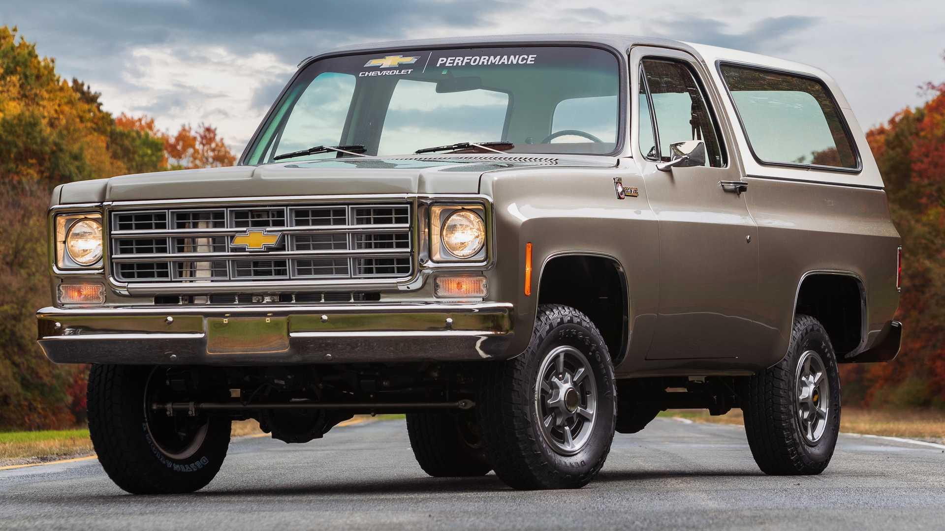 Chevrolet, 1977 model Blazer'ı elektrikliye dönüştürmüş