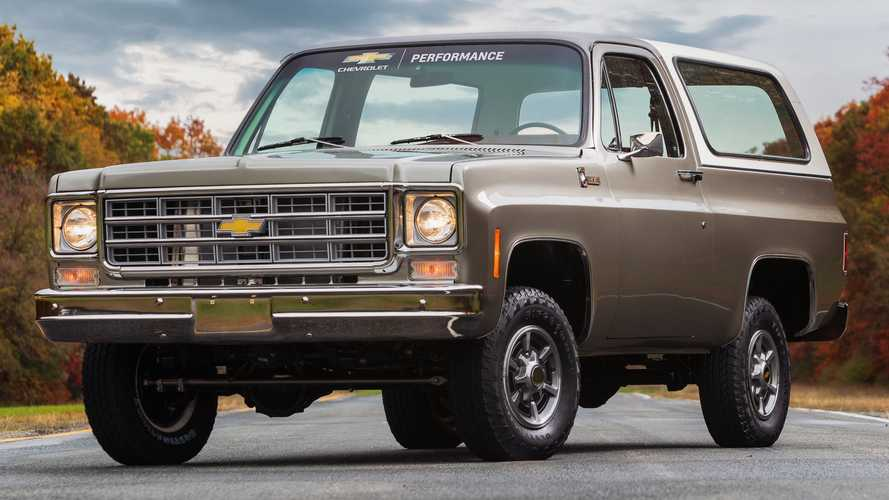 Chevy K5 Blazer-E Debuts Showing GM's eCrate EV Conversion for Classics