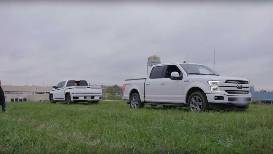 Watch Lordstown Endurance Electric Pickup Take On Ford F-150 In Tug Of War