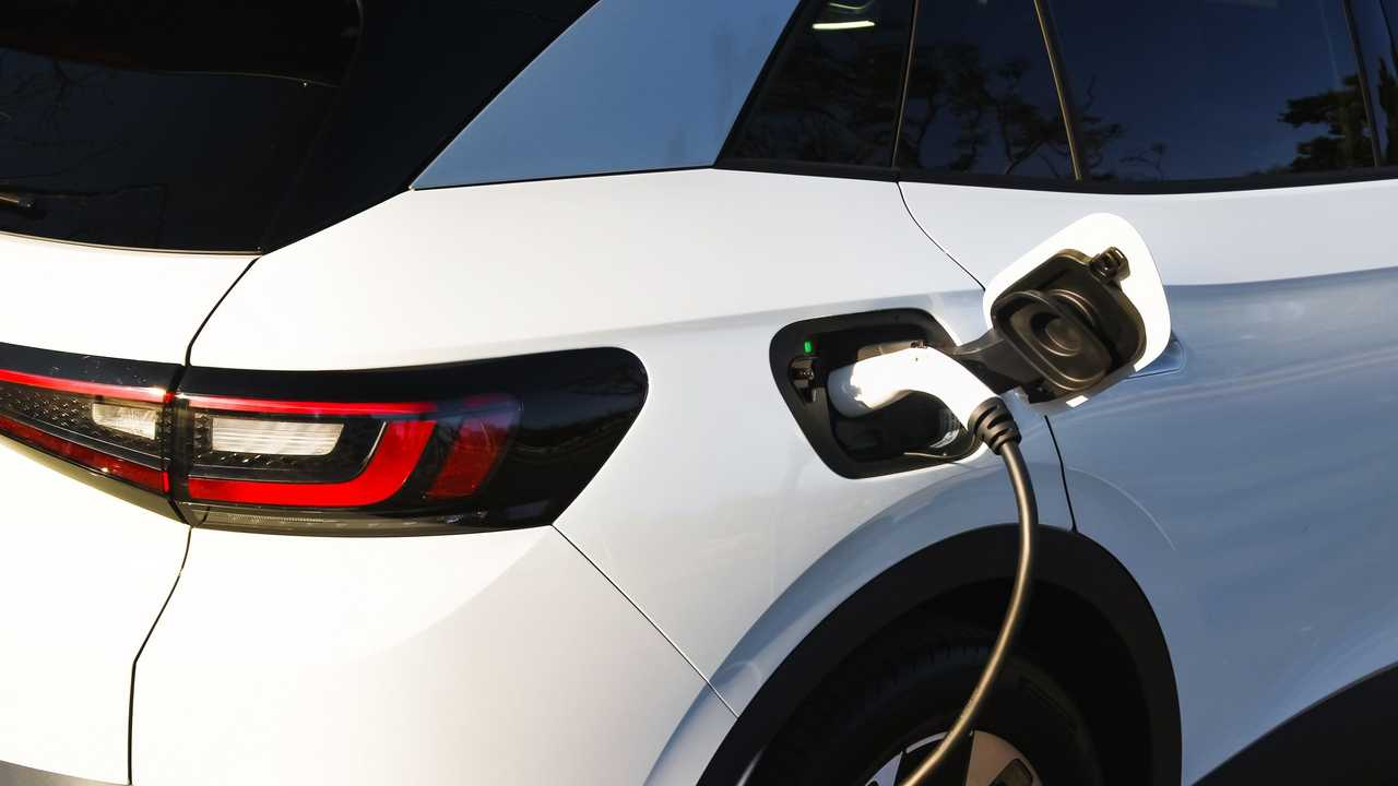 Volkswagen ID.4 charging at the Volkswagen Group of America's IECC Silicon Valley Campus