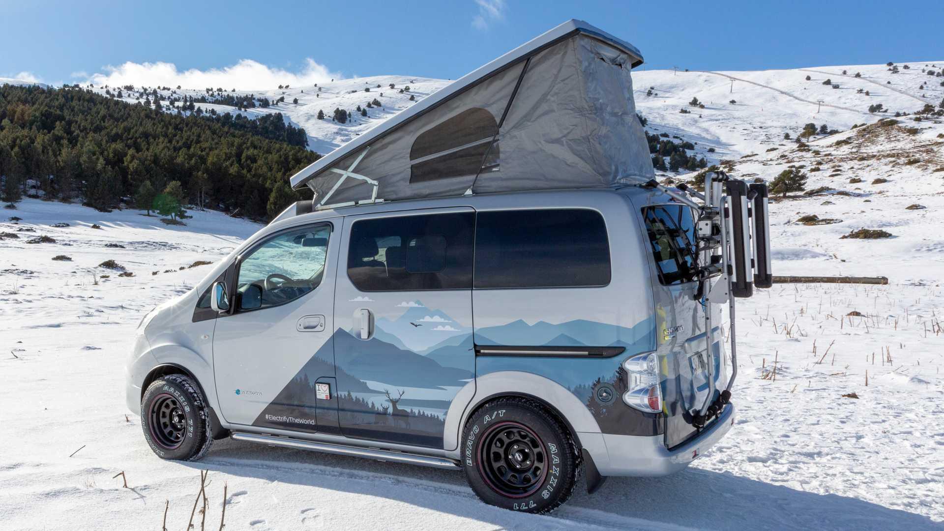 Nissan e-NV200 Winter Camper Concept Imagines RV For EV Adventures