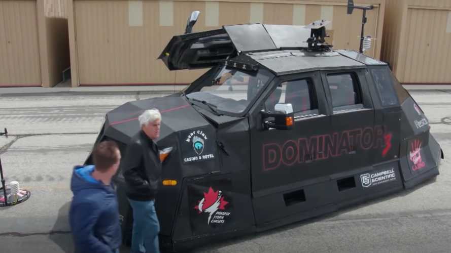 Ford Truck Turned Storm Chaser With Gull-Wing Doors Visits Jay Leno