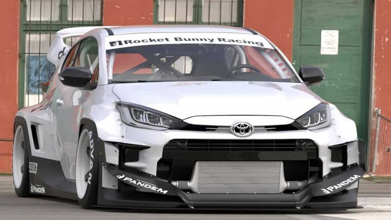 Toyota Yaris GR Pandem Rocket Bunny Body Kit Front Detail