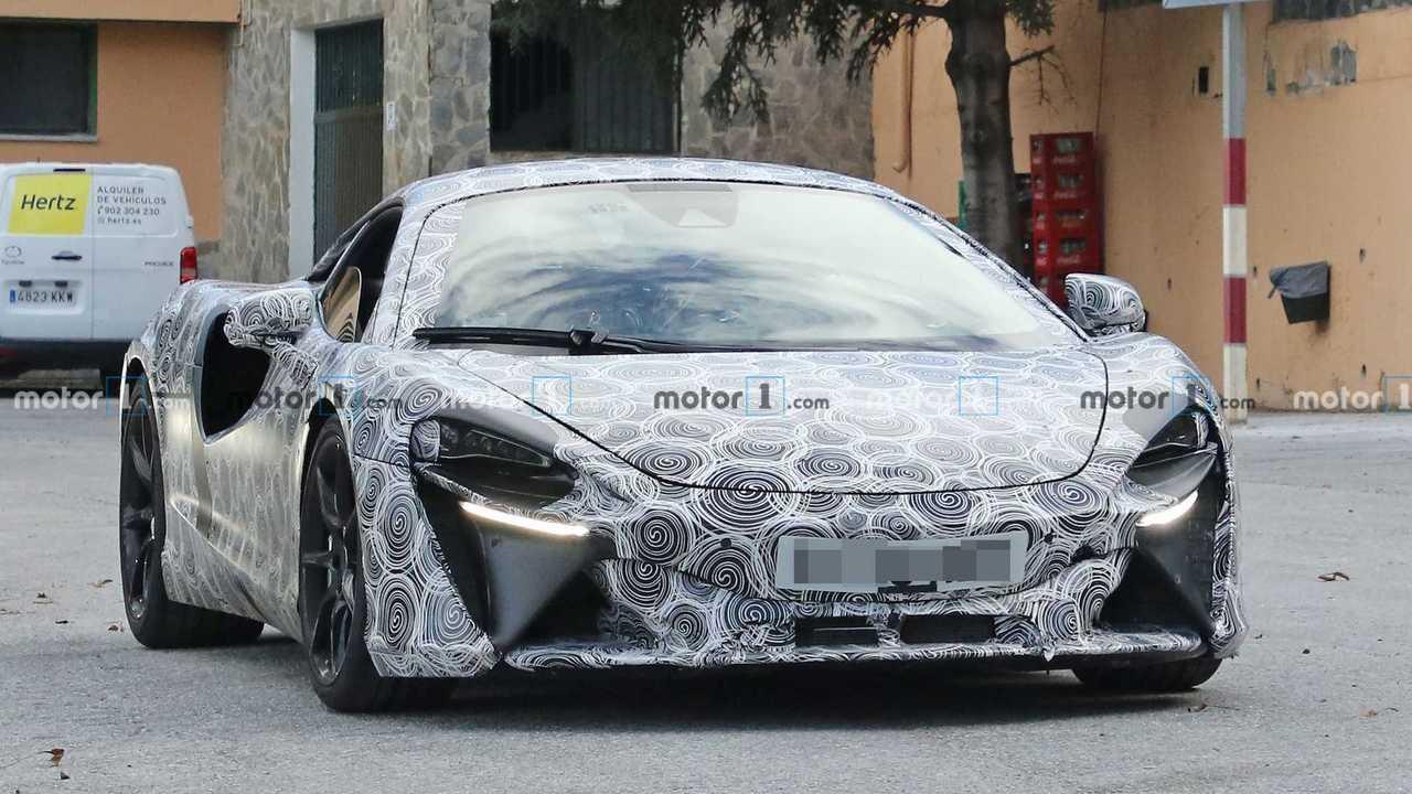 Photo espion supercar hybride McLaren
