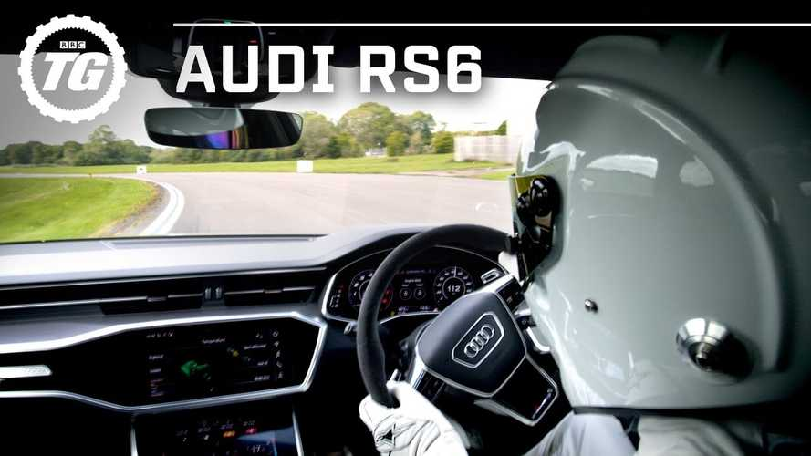 See The Stig Tame The Audi RS6 Avant Around The Top Gear Test Track