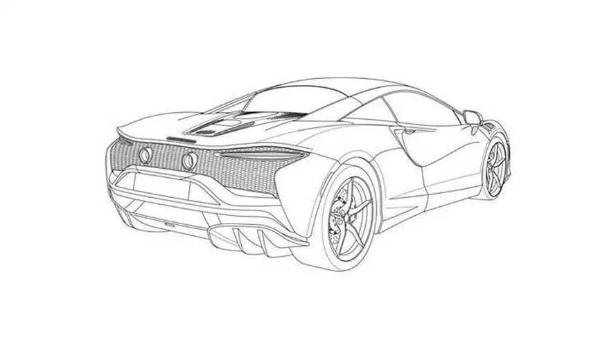Supercarro híbrido da McLaren - imagens de patentes