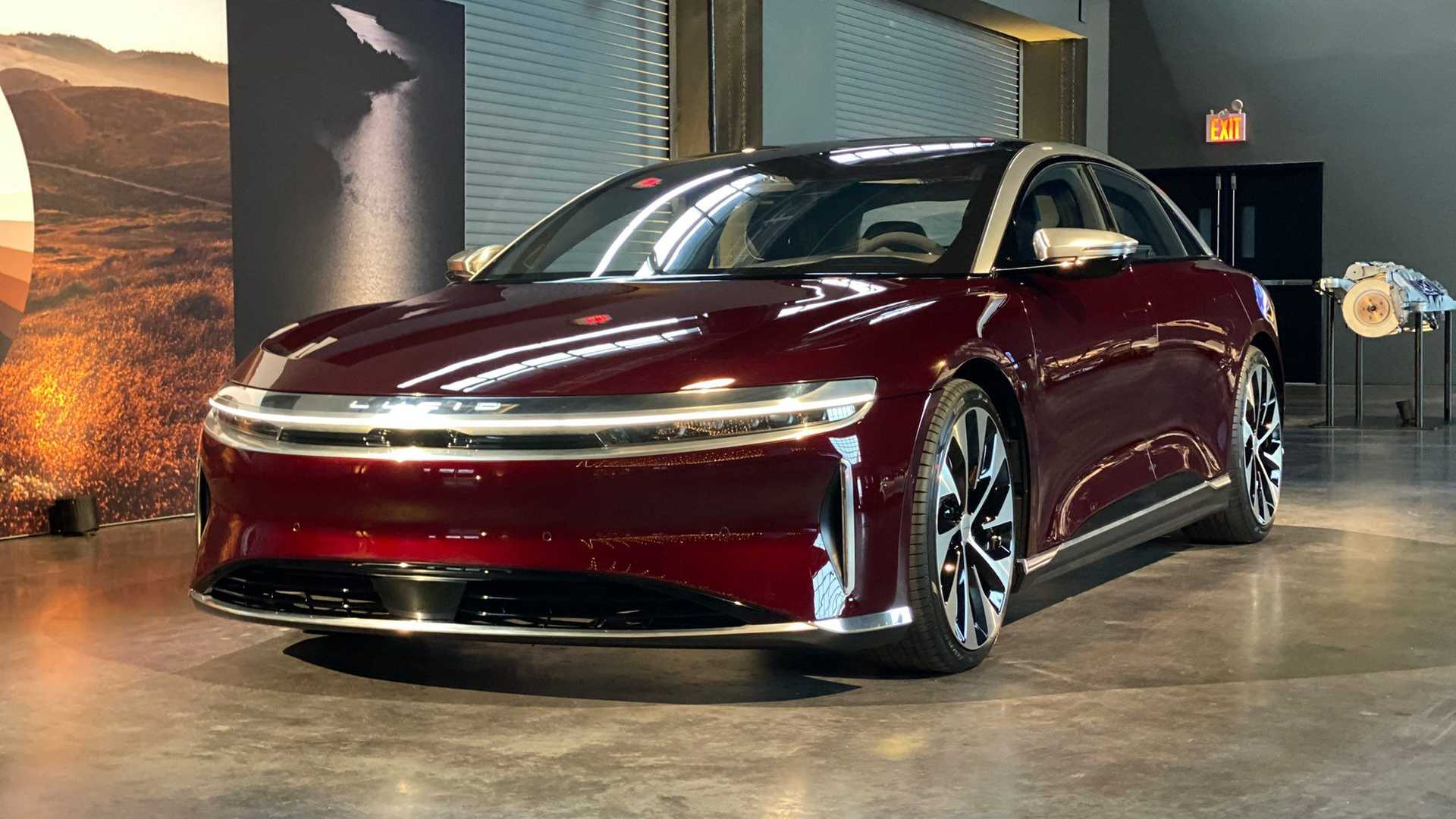Lucid Air in Zenith Red
