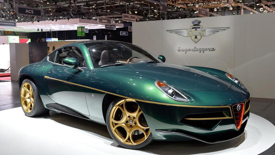 Touring Superleggera delivering Alfa Romeo Disco Volante in Geneva [video]